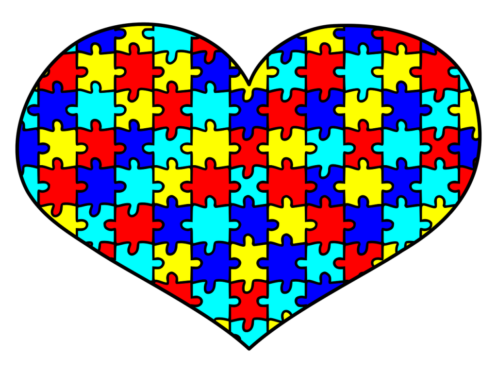 Heart Puzzle Pieces Symbol of Autism